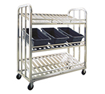 New Age 97476 3-Tier Picking Cart w/ 24.5x56-in Shelves & 5-in Casters, All Welded Aluminum