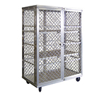 New Age 97621 Mobile Security Cage w/ 3-Shelves & Double Doors, 71x49x26.75-in, Aluminum