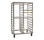 "New Age 97715 Mobile Full Height Transport Retrieval Rack w/ Open Sides 5"" Casters Aluminum"