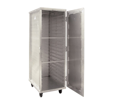 New Age 97718 Mobile Full Height Transport Cabinet w/ (20)18x26-in Pan Capacity, Aluminum
