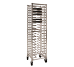 New Age 97720 Mobile Single Wide Deep Universal Pizza Pan Rack w/ 20-Pan Capacity & Open Sides