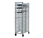 New Age 97721 Mobile Single Wide Double Deep Universal Pizza Pan Rack 20-Pan Capacity Aluminum