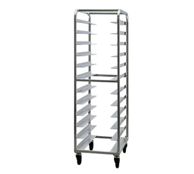 "New Age 97745 Mobile Full Height Tray Retrieval Rack w/ Open Sides & (24)14x18"" Pan Capacity"
