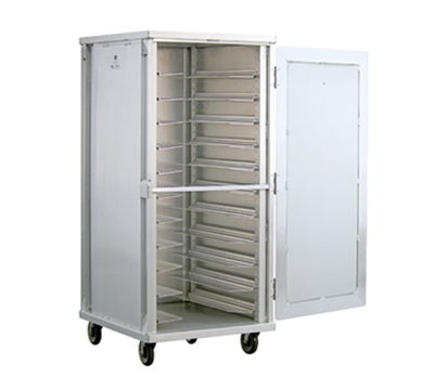New Age 97746 Mobile Full Height Universal Transport Cabinet w/ 11-Pair Angle Runners Aluminum
