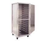New Age 97747 Mobile Full Height Universal Transport Cabinet w/ 13-Pair Angle Runners Aluminum