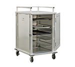 New Age 97830 12-Tray Cabinet Room Service Cart, Aluminum