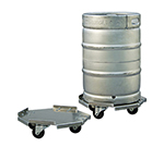 New Age 98037 1-Piece Keg Dolly w/ Octagon Shape & 1-Keg Capacity, 17.25x17.25-in, Aluminum