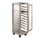 New Age 98063 Enclosed Mobile Display Cabinet w/ 10-Pair Angle Runners & Stops, Aluminum