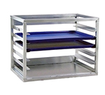 "New Age 98138 Wall Mounted Sheet pan Rack w/ (6)18x26-Pan Capacity & 3"" Spacing, Aluminum"