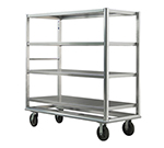 New Age 98182 Queen Mary Banquet Cart w/ 4-Open Shelves & 2500-lb Capacity, Aluminum