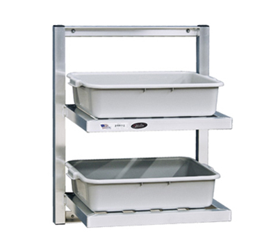 "New Age 98272 2-Tier Bus Tub Wall Shelf w/ T Bar Shelves & 12"" Clearance, 30x24x16"""