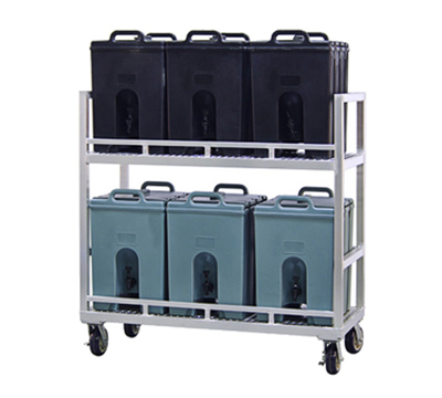 New Age 98399 2-Tier Beverage Storage Transport Cart w/ (4)6-in Heavy Duty Platform Casters
