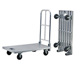 New Age 98667 26.25x48-in Platform Truck w/ Folding Handle & 800-lb Capacity, Aluminum