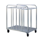 New Age 98998 48-in Steam Table Dolly Pan w/ 4-Bay, 1000-lb Capacity, 5-in Non Marking Casters