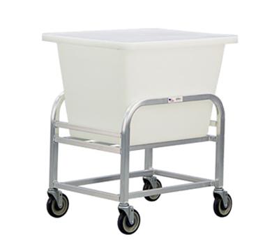 New Age 99272 Bulk Cart w/ 6-Bushel Capacity & 5-in Stem Casters, 25x22x29-in, Aluminum