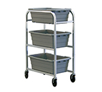 New Age 99304 Lug Dolly Busing Cart w/ 500-lb Capacity & 5-in Stem Casters, 42.5x15.75x28-in