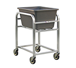New Age 99521 Bulk Cart w/ 2.25-Bushel Capacity & (4)5-in Stem Casters, All Welded Aluminum