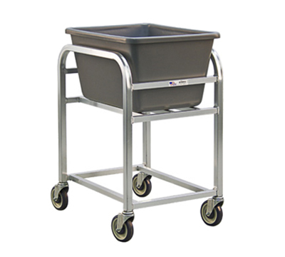 "New Age 99521 Bulk Cart w/ 2.25-Bushel Capacity & (4)5"" Stem Casters, All Welded Aluminum"