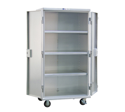 "New Age 99551 Solid Security Cage w/ Adjustable Shelves & Double Doors, 72x49x26"", Aluminum"