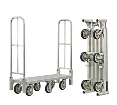 New Age BDT18568 1-Level Aluminum Utility Cart w/ 1200-lb Capacity, Flat Ledges
