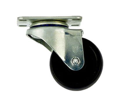"New Age C410 Swivel Plate Caster w/ 3"" Diameter & 275-lb Capacity, Polyolefin Wheel Tread"