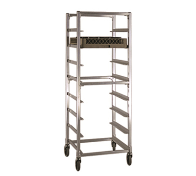 "New Age NS345 Mobile Full Height Cup Glass Cart, Open Sides (8)20x20"" Rack Capacity Aluminum"