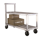 New Age NS557 Mobile Truck w/ Solid Aluminum Top, 2-Tier, Handle, & 3000-lb Capacity