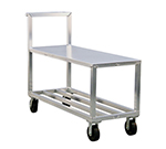 """New Age NS557A Mobile Truck w/ 2-Tier, Handle, & 3000-lb Capacity, 6"""" Casters, Aluminum"""