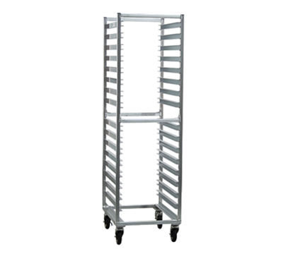 "New Age NS648 Mobile Full Height Box Rack w/ Open Sides & (16)18x26"" Pan Capacity, Aluminum"