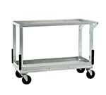 "New Age NS765 Floral Cart w/ Open Base, (2)17x40"" Shelves Push Handle 5"" Casters Aluminum"