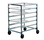"New Age NS834 Mobile Full Height Tray Rack w/ (12)15x20"" Capacity Side Loading Stainless Top"