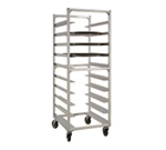"New Age NS893 Mobile Oval Tray Rack w/ Open Sides & (10)22x26.88"" Tray Capacity, Aluminum"