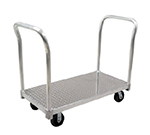 New Age PT2448P6 24x48-in Platform Truck w/ Tread Plate Deck & 2600-lb Capacity, Removable Handle