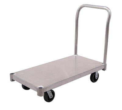 "New Age PT2436S6 24x36"" Platform Truck w/ Smooth Deck & 2600-lb Capacity & Removable Handle"