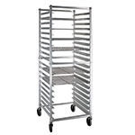 New Age NS621KD Mobile Full Height Donut Screen Rack w/ Open Sides & (20)23x23-Pan Capacity