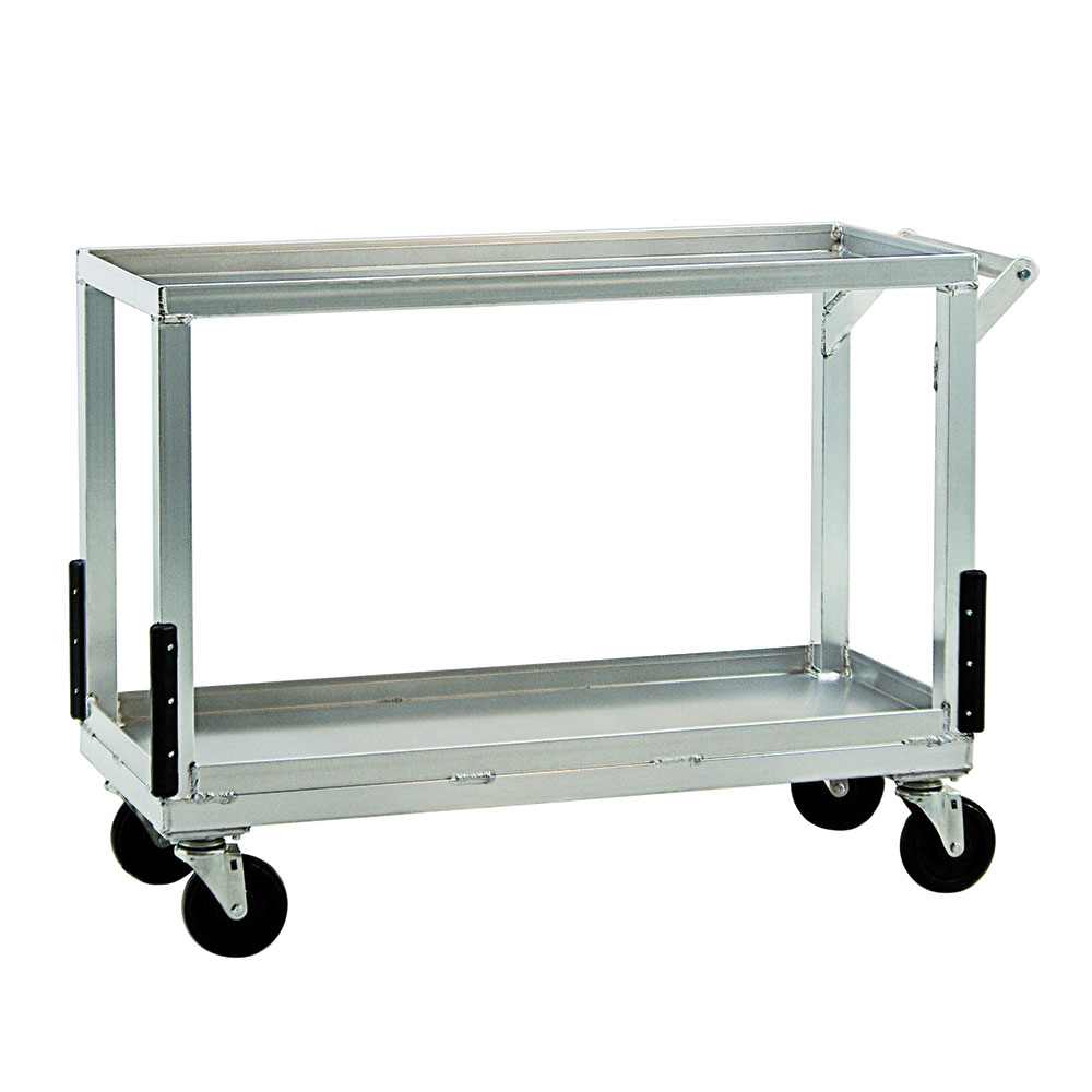 New Age NS765 2-Level Aluminum Utility Cart w/ Raised Ledges
