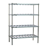 "New Age P2448 48"" Stationary Dunnage Rack w/ 900-lb Capacity, Aluminum"