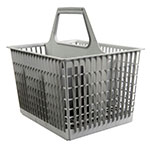 Jackson 07320-100-08-01 6-Compartment Flatware Basket for Model 10 - Plastic, Gray