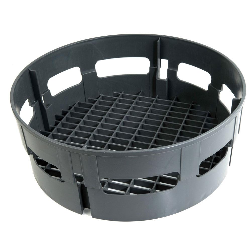 "Jackson 07320-100-13-01 17.5"" Round Combination Rack for Model 10 - Plastic, Gray"