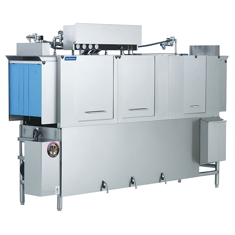 Jackson AJ100CS 2301 Conveyor Type Dishwasher w/ Steam Coil Tank Heat & 287-Racks Per Hour, 230/1 V
