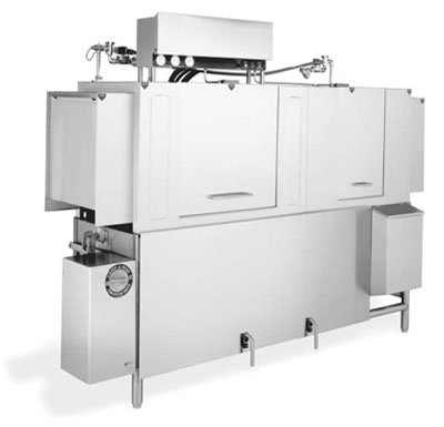 Jackson AJ80CGP 2301 High Temperature Conveyor Type Dishwasher w/ 248-Racks Per Hour, 230/1