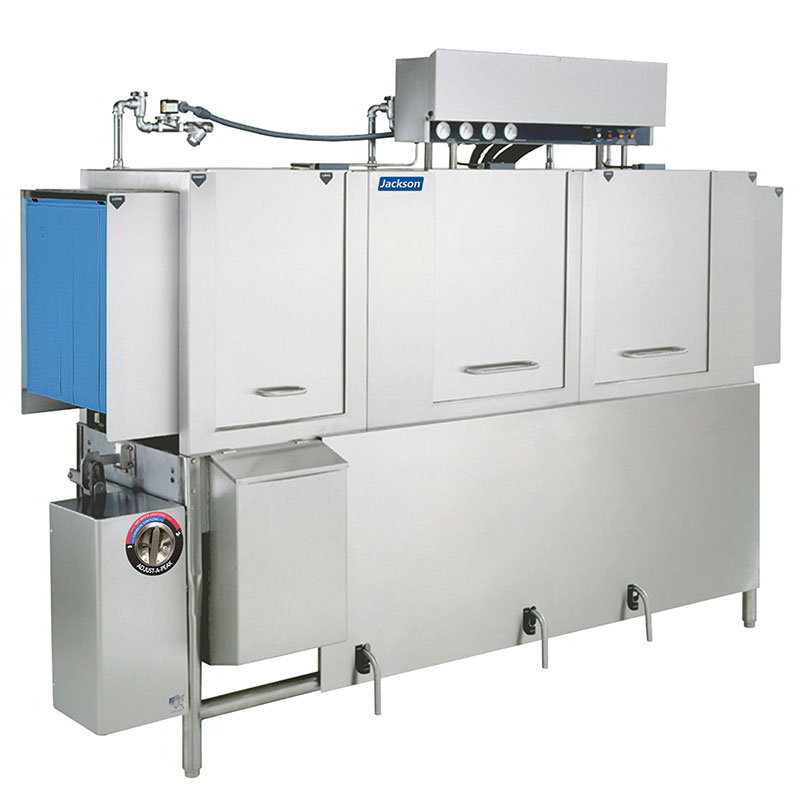 Jackson AJ86CE 2083 Conveyor Type Dishwasher 22-in Recirculating Prewash & 287-Racks Per Hour 208/3