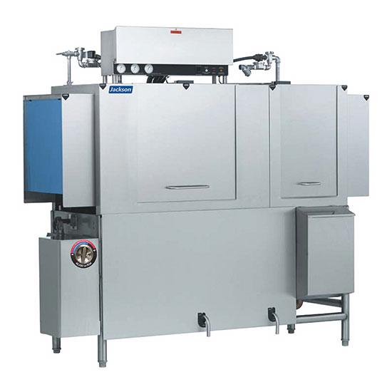 "Jackson AJX-66CS 78"" High Temp Conveyor Dishwasher w/ Steam Tank Heat, 230v/1ph"
