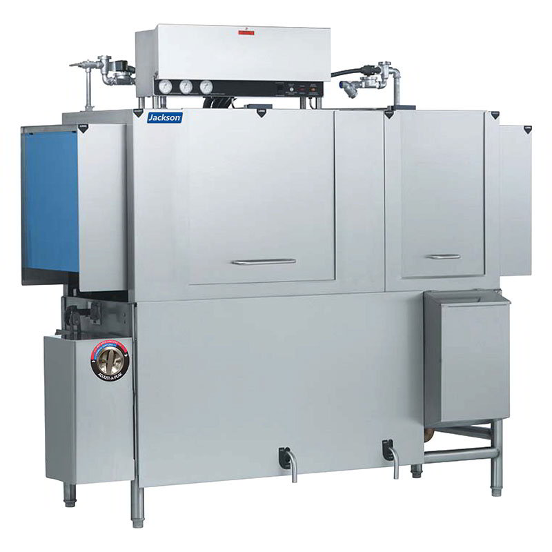 Jackson AJX76CE 2303 High Temp Single Tank Conveyor Type Dishwasher w/ 225-Racks Per Hour 230/3