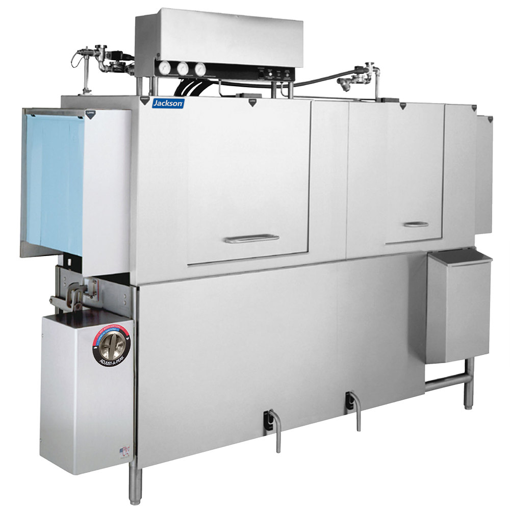 "Jackson AJX-80 80"" High Temp Conveyor Dishwasher w/ 225-Racks/Hr Capacity"