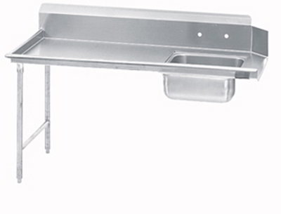 Jackson DTSS7036R 36-in Straight Soiled Dishtable w/ Right side Installation & 20x20-in Sink