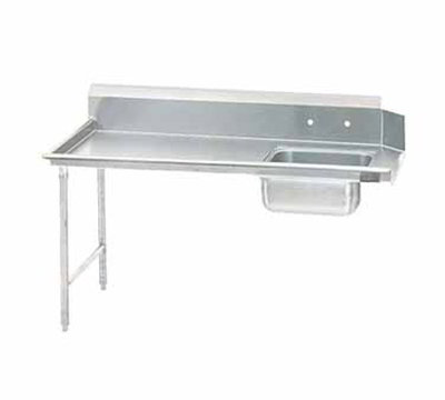 "Jackson DTS-S70-48L 48"" Straight Spoiled Dishtable, Left side Installation"