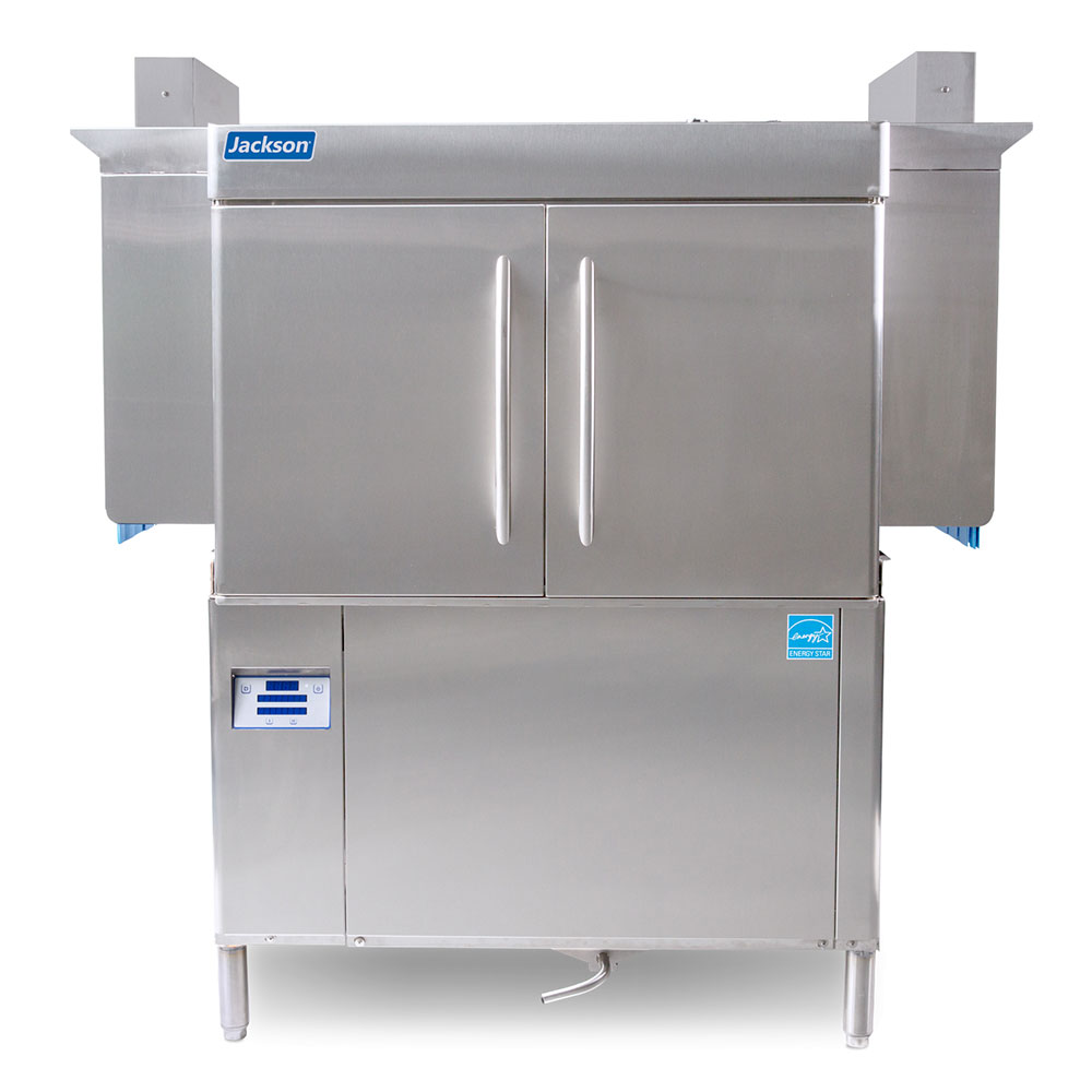 "Jackson RACKSTAR44 44"" High Temp Conveyor Dishwasher w/ Booster Heater, 223-Racks/Hr Capacity"