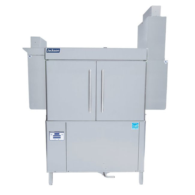 "Jackson RACKSTAR44ER 44"" High Temp Conveyor Dishwasher w/ Booster Heater, 223-Racks/Hr Capacity"