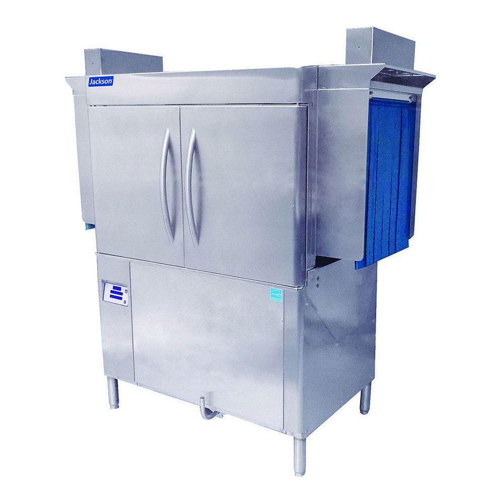 "Jackson RACKSTAR44 64"" High Temp Conveyor Dishwasher w/ Electric Tank Heat, 208v/1ph"